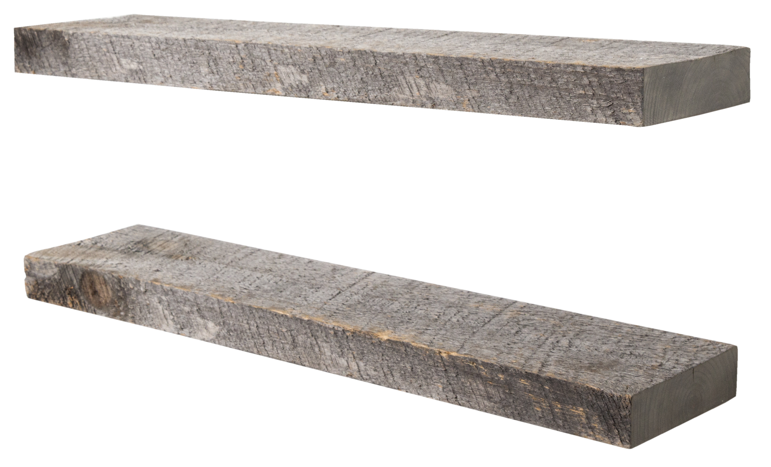 imperative decor floating shelves rustic wood wall shelf usa handmade set of 2 reclaimed grey 24 x 5 5